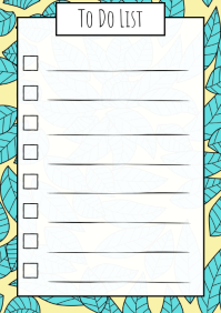 To do list Doodles art printable a4