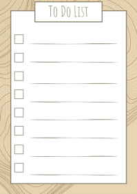 To do list doodles artistic 2 A4 template