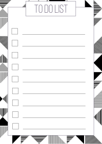 To do list Geometric Printable A4 template