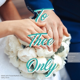 To thee Only Wedding Announcement