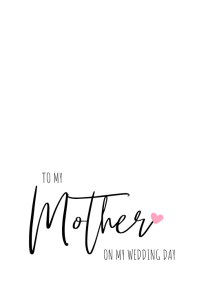 to Your Mother and Father folded card A5 template