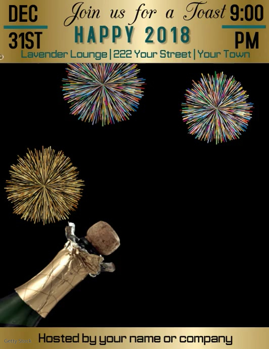 Toast the New Year Video Flyer