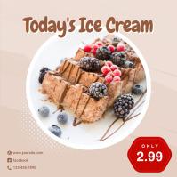 Today's Ice Cream Instagram Template