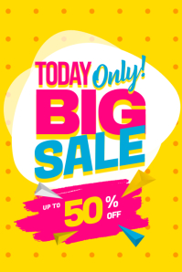 Today Only Big Sale Poster Template Plakkaat