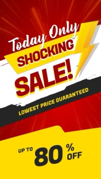 Today Only Shocking Sale Digital Display HD Цифровой дисплей (9 : 16) template
