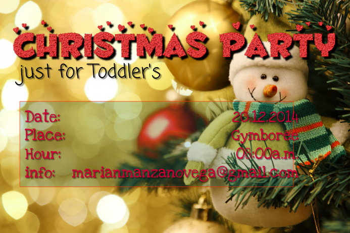 Toddler's Christmas Party