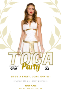 Toga Greek Party Flyer design Template