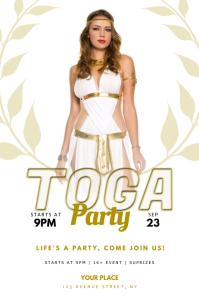 Toga Greek Party Flyer design Template