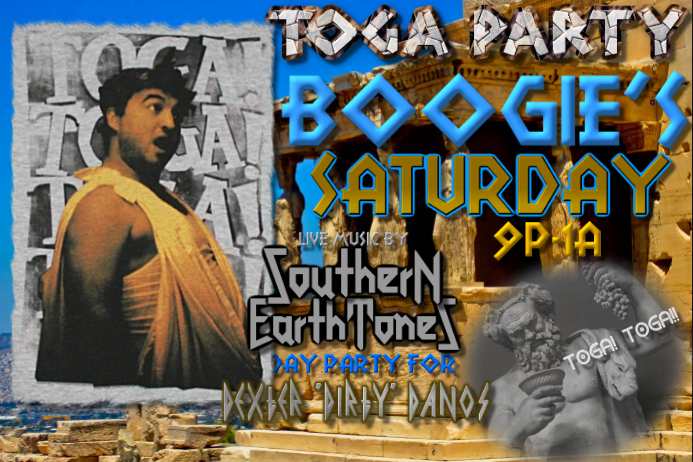 Toga Party Frat Flyer Poster template