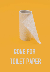Toilet paper A4 template