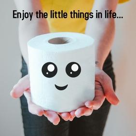 Toilet paper instagram humor