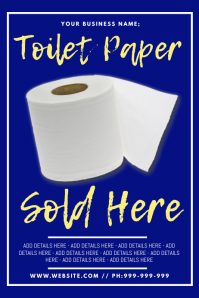 Toilet Paper Sold Here Poster