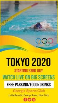 Tokyo Olympics 2020, Olympics 数字显示屏 (9:16) template