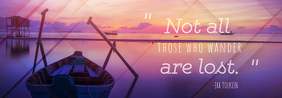 Tolkien Quote Tumblr Header Template