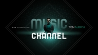 TOM MARCH MUSIC CHANNEL DJ Youtube Art Omslagfoto YouTube-kanaal template