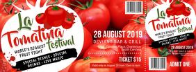 Tomatina ticket enter one custom design
