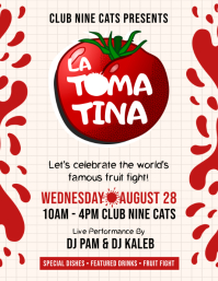 Tomato Festival Party Flyer template