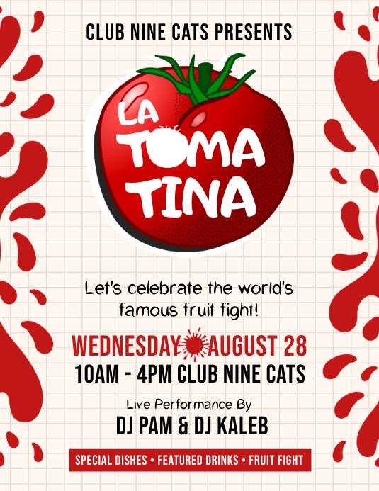 Tomato Festival Party Flyer