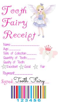 Tooth Fairy Receipt