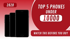 Top 5 Phones Youtube Thumbnail template