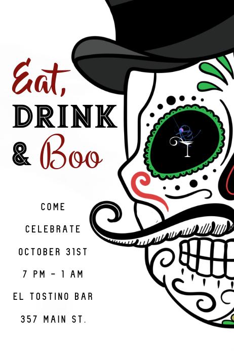Day of the Dead Skull Invite