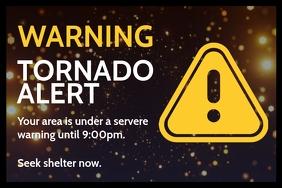 Tornado Alert Sign Board Template Poster