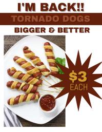 Tornado Dog Flyer Template