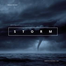 Tornado Storm Clouds Dark Mixtape CD Cover template