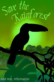 toucan bird - save the rainforest - exotic tropical djungle