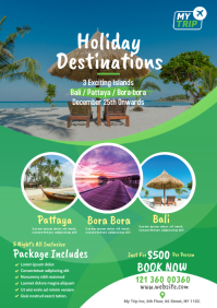 Tour and Travel Agency Flyer Template A4