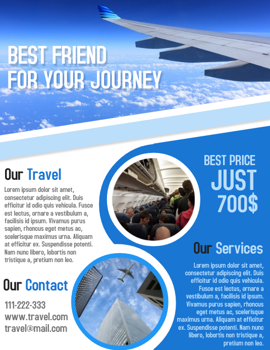 Tour and Travel business advertisement flyer and poster