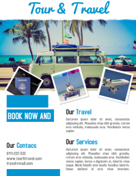 Tour and travel business promotion flyer & poster template