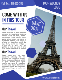 Tour and travel holiday business flyer and poster