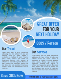 Tour and travel holiday business poster and flyer template