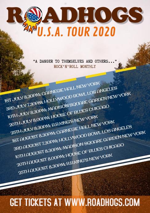 Tour Dates A5 template