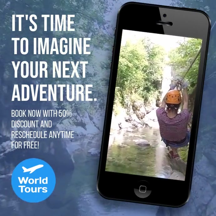 Tour travel and adventure instagram ad video template
