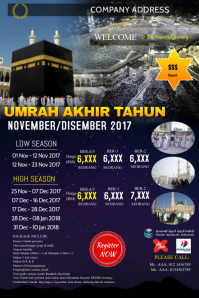 Tour Umrah Package Pinterest-Grafik template