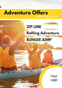Tourism Adventure Excursion Travel Holiday Ad A4 template
