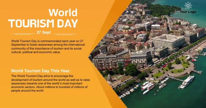 tourism day celebrated social media post Imagen Compartida en Facebook template