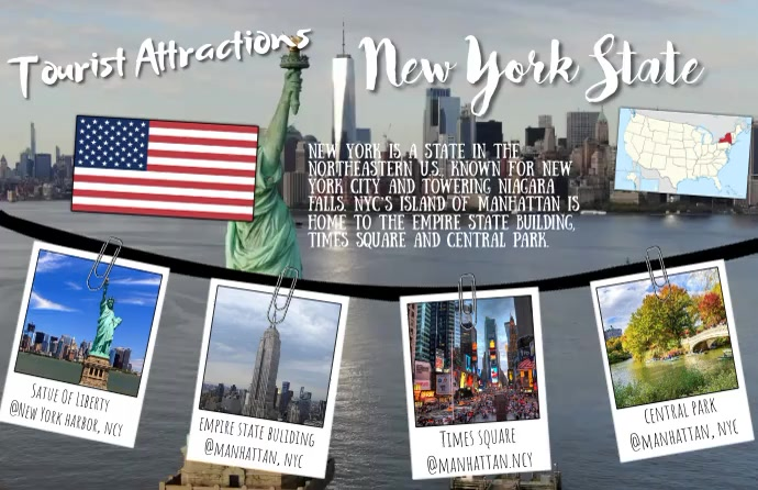 Tourist Attractions Template Tabloide