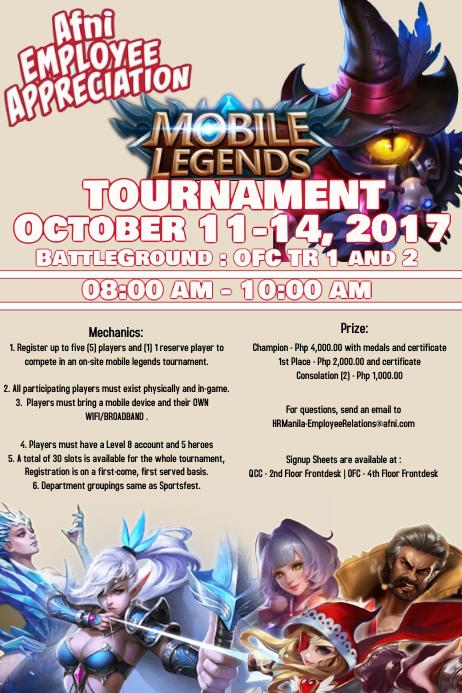 Tournament Iphosta template