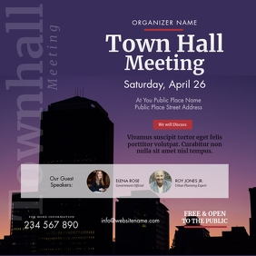 Town Hall Meeting Instagram Post template