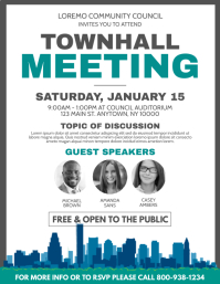 80 Customizable Design Templates For Town Hall Postermywall