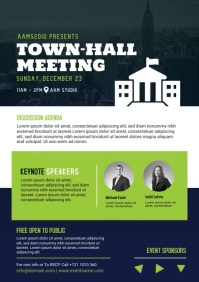 Town Hall Meeting A4 template
