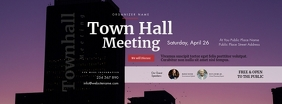 Town Hall Meeting Facebook Cover Photo template