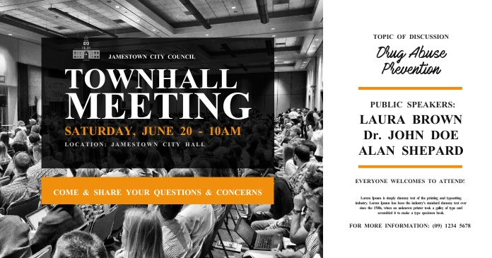 Town Hall Meeting Facebook Shared Image template