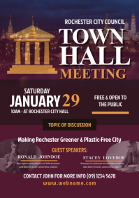 Town Hall Meeting Flyer A4 template