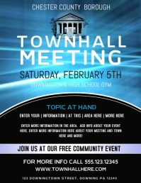 Town Hall Meeting Flyer (US Letter) template