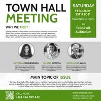 town hall meeting instagram post advertising Iphosti le-Instagram template