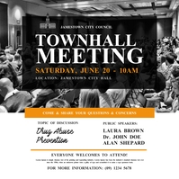 Town Hall Meeting Instagram Post Wpis na Instagrama template